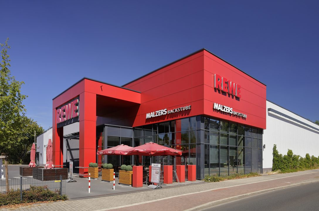 REWE-SB-Markt mit Bäcker-Café